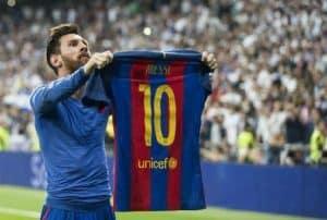 camisetas del Real Madrid, Messi