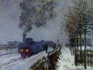 El tren en la nieve