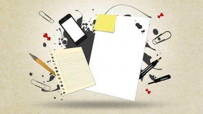 El folio en blanco