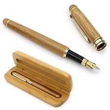 Pluma estilográfica de bambú