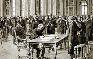 Firma del Tratado de Versalles con pluma Waterman