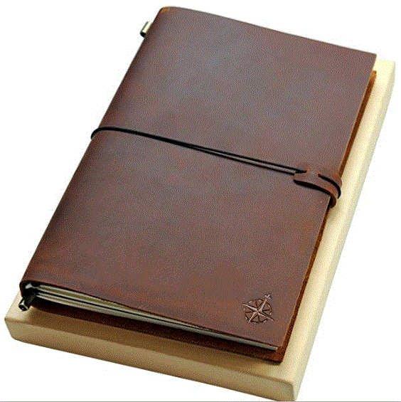 cuaderno de cuero Wanderings