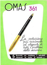 cartel de la mítica pluma Omas 361